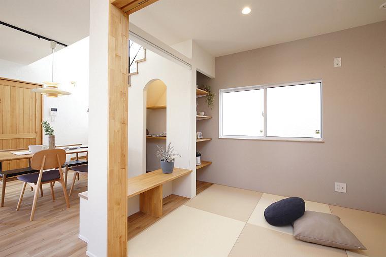 個室にもなる和室スペース