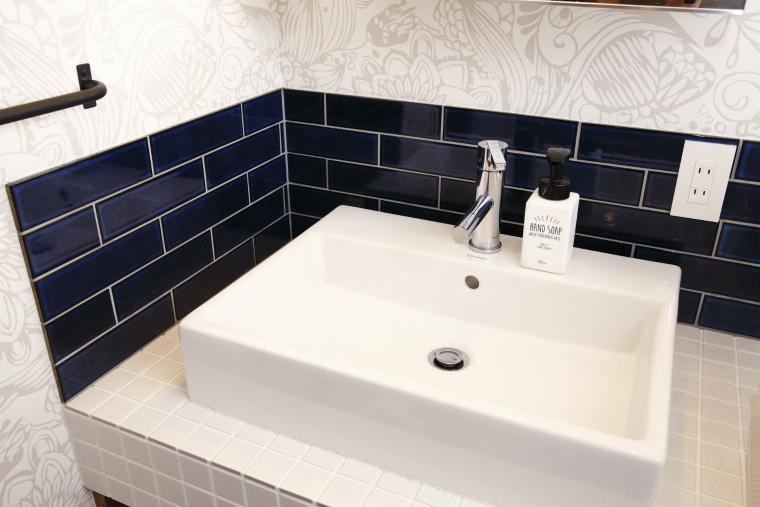 デザイン性と機能性を兼ねそろえた洗面台